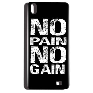 Reliance LYF Water 6 Mobile Covers Cases No Pain No Gain Black And White - Lowest Price - Paybydaddy.com