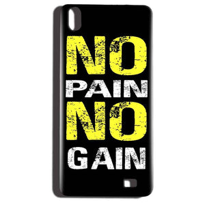 Reliance LYF Water 6 Mobile Covers Cases No Pain No Gain Yellow Black - Lowest Price - Paybydaddy.com