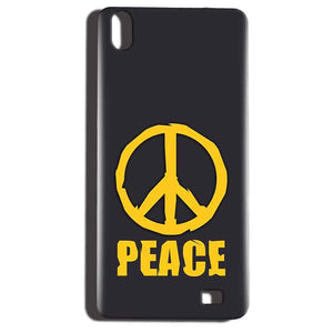 Reliance LYF Water 6 Mobile Covers Cases Peace Blue Yellow - Lowest Price - Paybydaddy.com