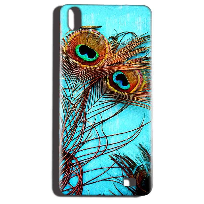 Reliance LYF Water 6 Mobile Covers Cases Peacock blue wings - Lowest Price - Paybydaddy.com