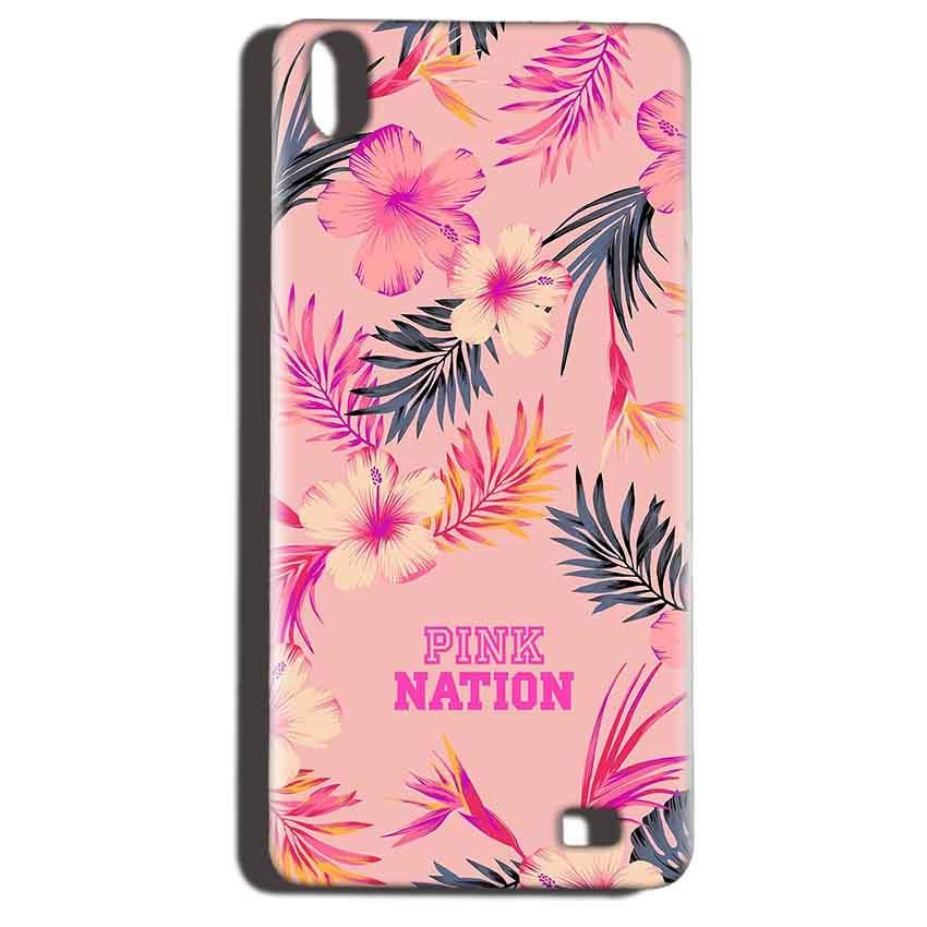 Reliance LYF Water 6 Mobile Covers Cases Pink nation - Lowest Price - Paybydaddy.com