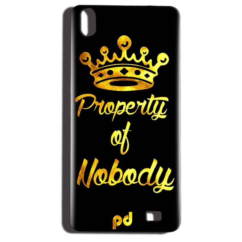 Reliance LYF Water 6 Mobile Covers Cases Property of nobody with Crown - Lowest Price - Paybydaddy.com