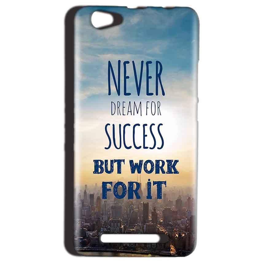 Reliance LYF Wind 1 Mobile Covers Cases Never Dreams For Success But Work For It Quote - Lowest Price - Paybydaddy.com