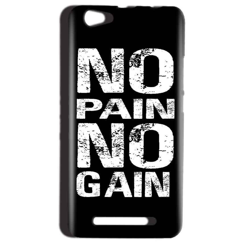 Reliance LYF Wind 1 Mobile Covers Cases No Pain No Gain Black And White - Lowest Price - Paybydaddy.com