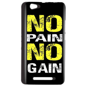 Reliance LYF Wind 1 Mobile Covers Cases No Pain No Gain Yellow Black - Lowest Price - Paybydaddy.com