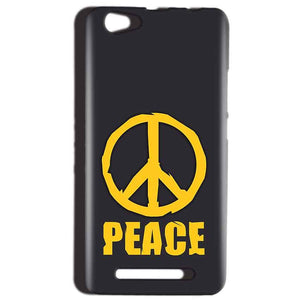 Reliance LYF Wind 1 Mobile Covers Cases Peace Blue Yellow - Lowest Price - Paybydaddy.com