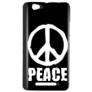 Reliance LYF Wind 1 Mobile Covers Cases Peace Sign In White - Lowest Price - Paybydaddy.com