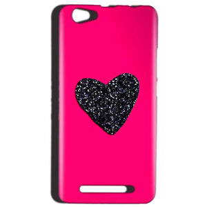 Reliance LYF Wind 1 Mobile Covers Cases Pink Glitter Heart - Lowest Price - Paybydaddy.com