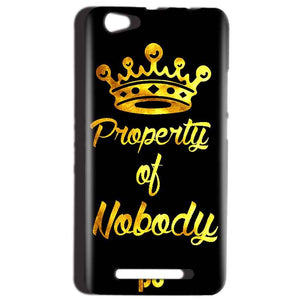 Reliance LYF Wind 1 Mobile Covers Cases Property of nobody with Crown - Lowest Price - Paybydaddy.com