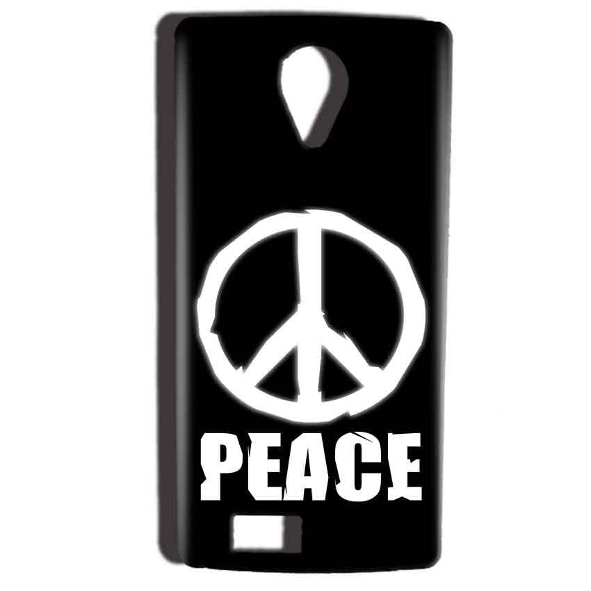 Reliance Lyf Flame 7 Mobile Covers Cases Peace Sign In White - Lowest Price - Paybydaddy.com