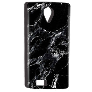 Reliance Lyf Flame 7 Mobile Covers Cases Pure Black Marble Texture - Lowest Price - Paybydaddy.com