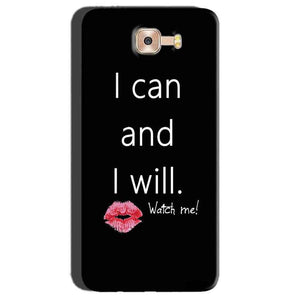 Samsung Galaxy C7 Pro Mobile Covers Cases i can and i will Lips - Lowest Price - Paybydaddy.com