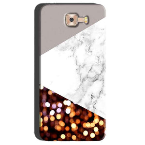 Samsung Galaxy C7 Pro Mobile Covers Cases MARBEL GLITTER - Lowest Price - Paybydaddy.com