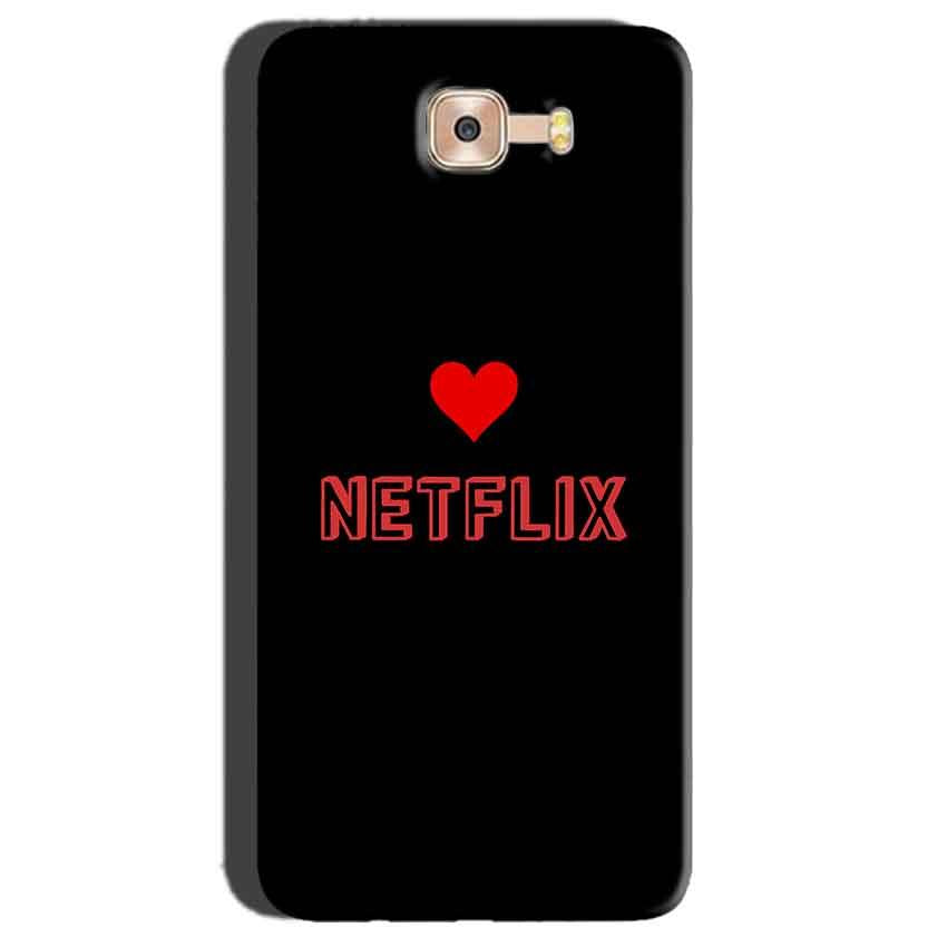 Samsung Galaxy C7 Pro Mobile Covers Cases NETFLIX WITH HEART - Lowest Price - Paybydaddy.com
