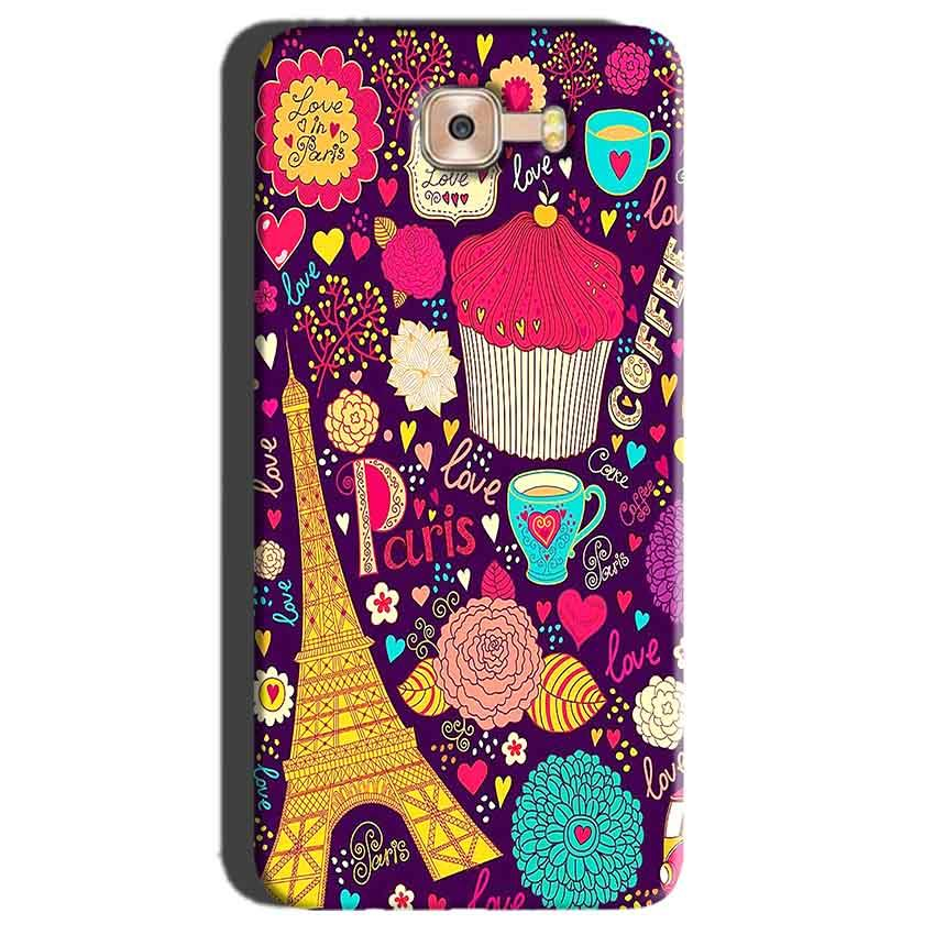 Samsung Galaxy C7 Pro Mobile Covers Cases Paris Sweet love - Lowest Price - Paybydaddy.com