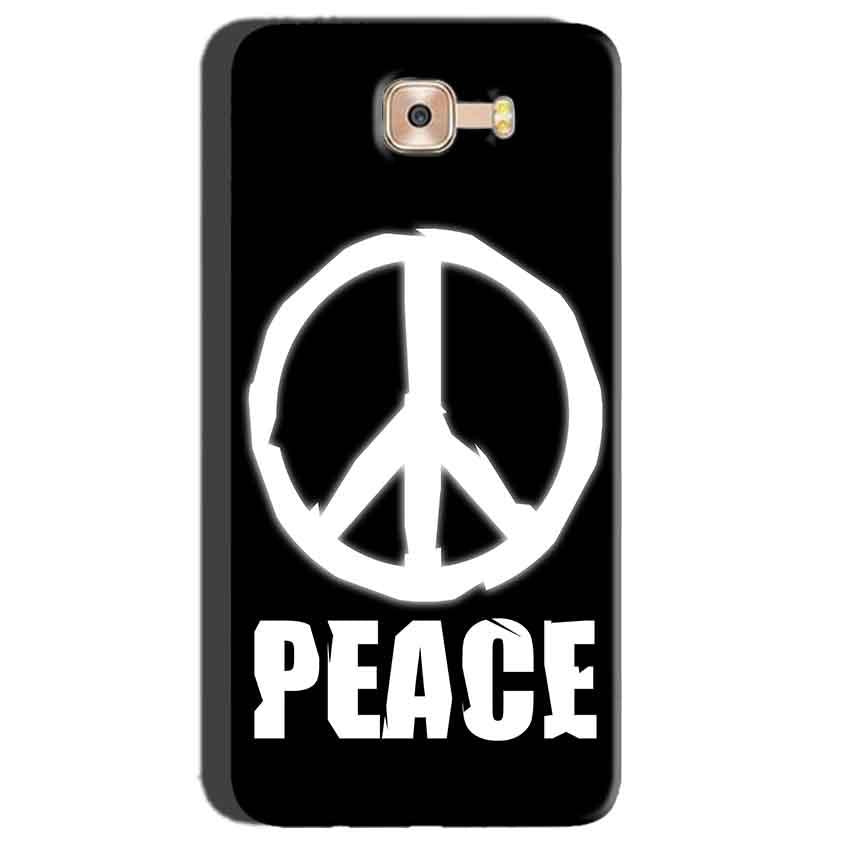 Samsung Galaxy C7 Pro Mobile Covers Cases Peace Sign In White - Lowest Price - Paybydaddy.com