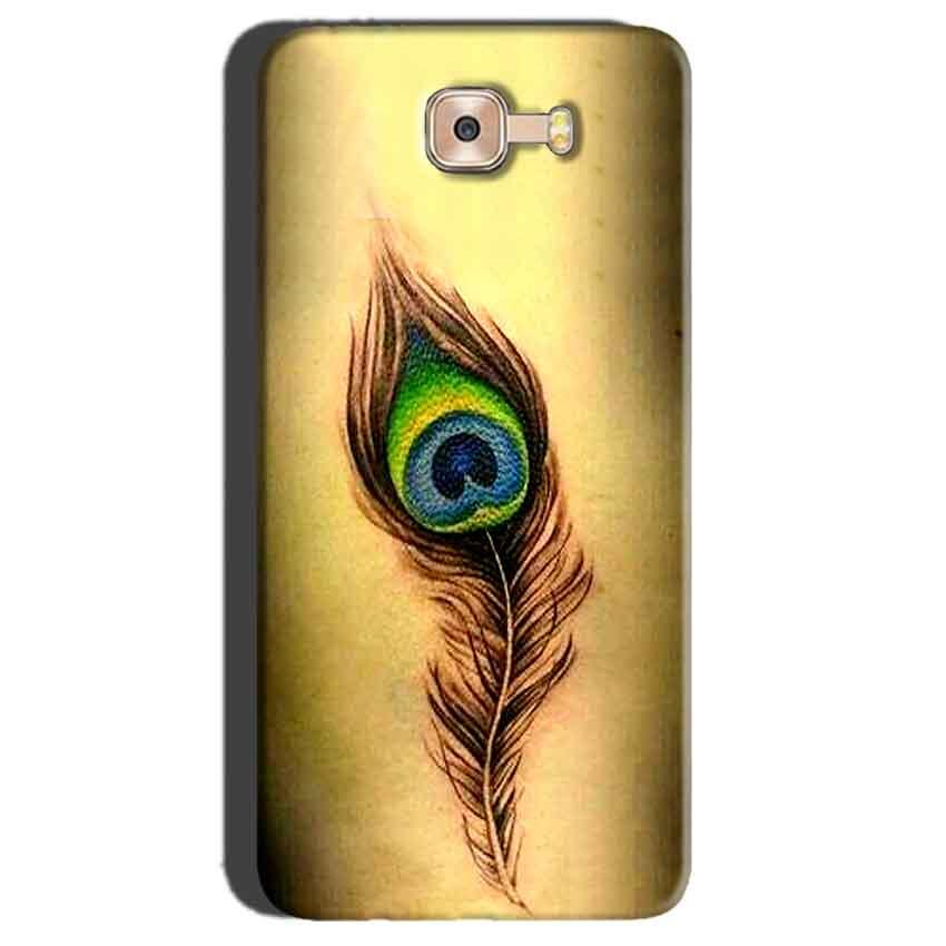 Samsung Galaxy C7 Pro Mobile Covers Cases Peacock coloured art - Lowest Price - Paybydaddy.com