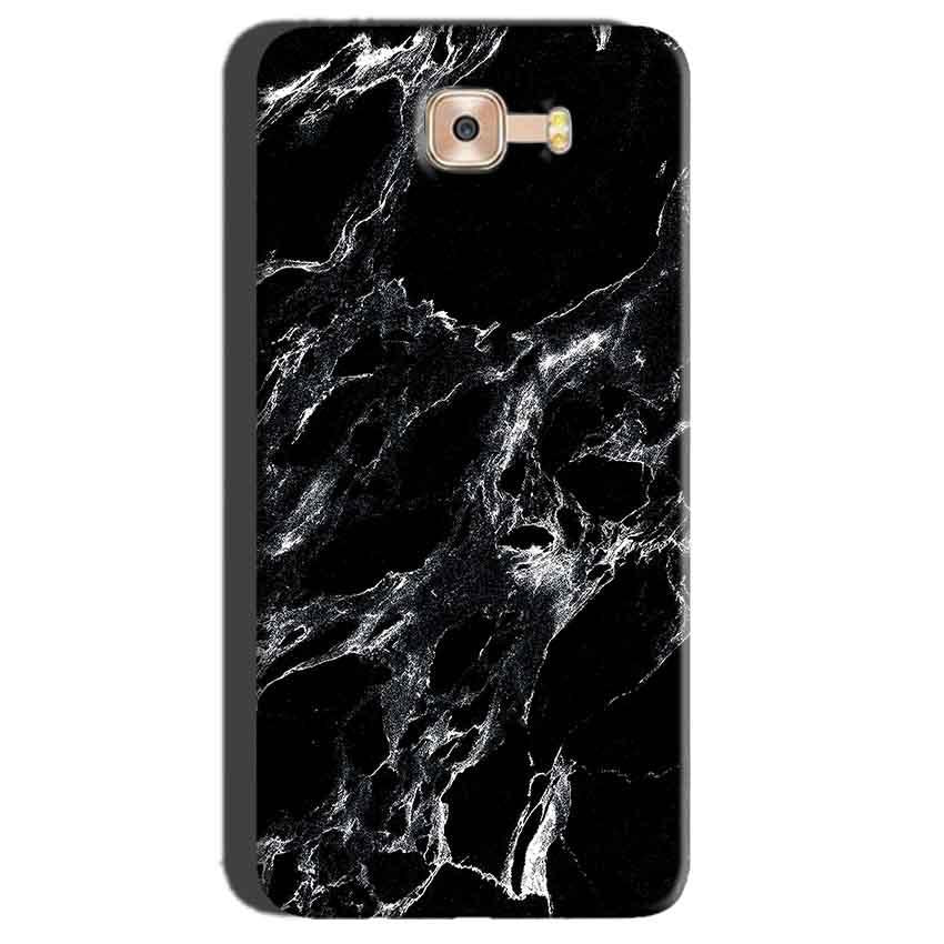 Samsung Galaxy C7 Pro Mobile Covers Cases Pure Black Marble Texture - Lowest Price - Paybydaddy.com