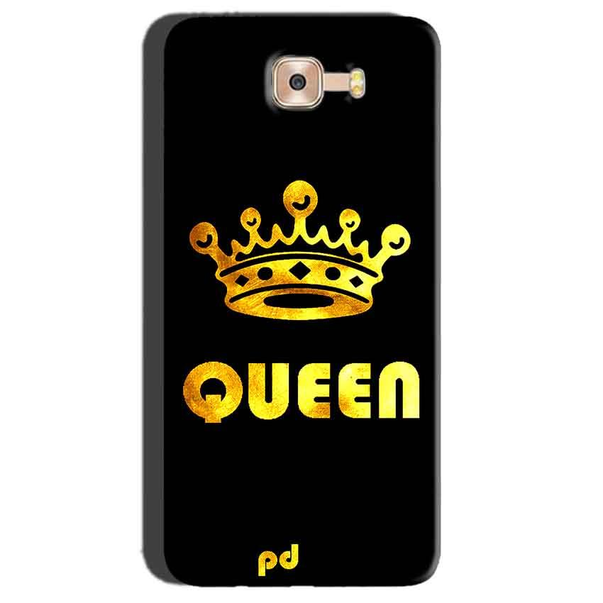 Samsung Galaxy C7 Pro Mobile Covers Cases Queen With Crown in gold - Lowest Price - Paybydaddy.com