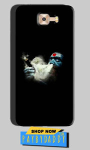Samsung Galaxy C7 Pro Mobile Covers Cases Shiva Aghori Smoking - Lowest Price - Paybydaddy.com