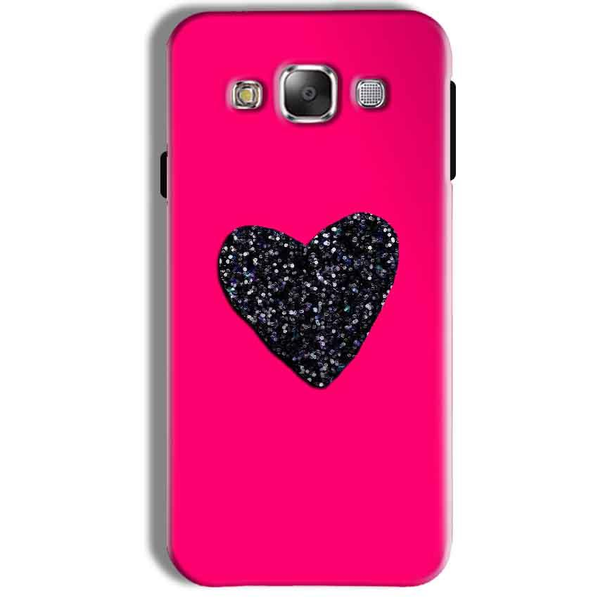 Samsung Galaxy J7 2016 Mobile Covers Cases Pink Glitter Heart - Lowest Price - Paybydaddy.com