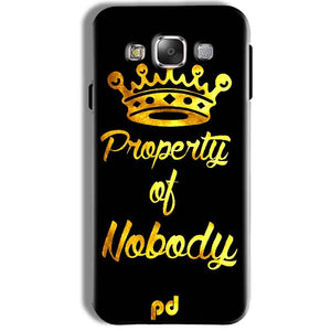 Samsung Galaxy J7 2016 Mobile Covers Cases Property of nobody with Crown - Lowest Price - Paybydaddy.com
