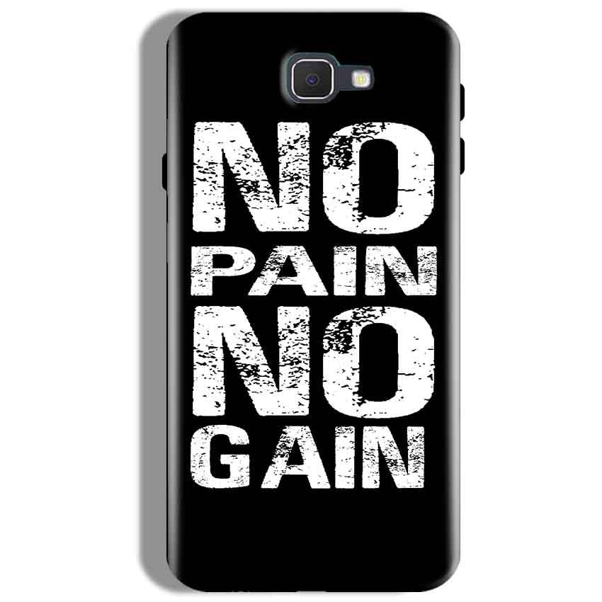 Samsung Galaxy J7 Prime Mobile Covers Cases No Pain No Gain Black And White - Lowest Price - Paybydaddy.com