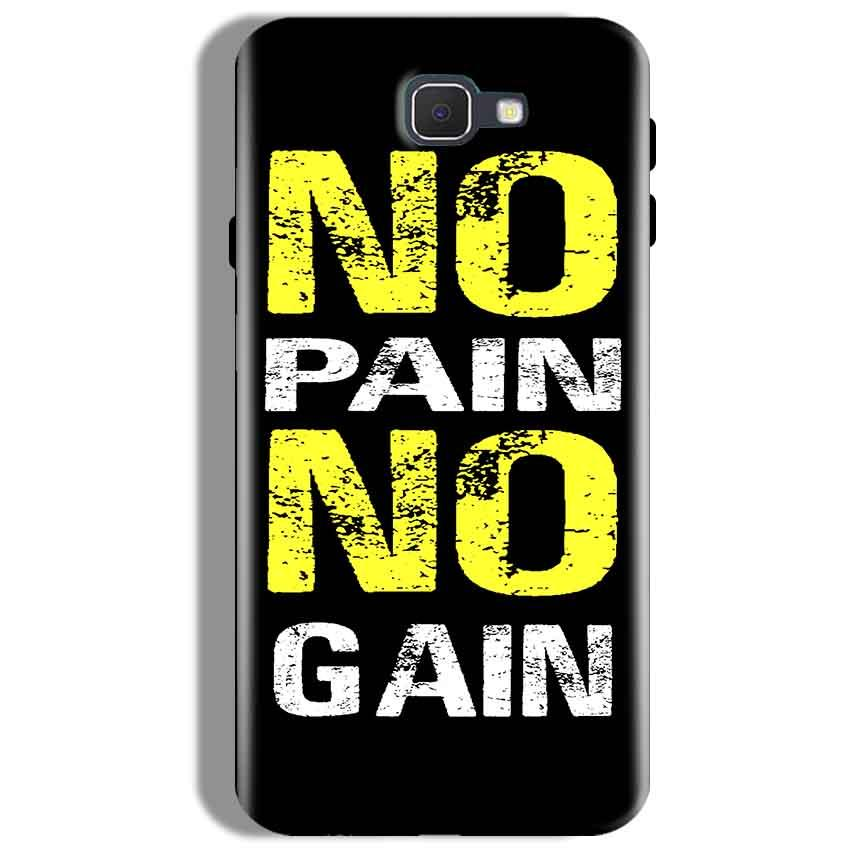 Samsung Galaxy J7 Prime Mobile Covers Cases No Pain No Gain Yellow Black - Lowest Price - Paybydaddy.com