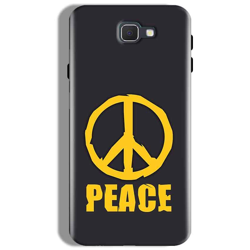 Samsung Galaxy J7 Prime Mobile Covers Cases Peace Blue Yellow - Lowest Price - Paybydaddy.com