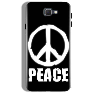 Samsung Galaxy J7 Prime Mobile Covers Cases Peace Sign In White - Lowest Price - Paybydaddy.com