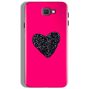 Samsung Galaxy J7 Prime Mobile Covers Cases Pink Glitter Heart - Lowest Price - Paybydaddy.com