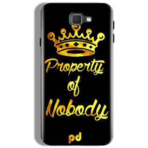 Samsung Galaxy J7 Prime Mobile Covers Cases Property of nobody with Crown - Lowest Price - Paybydaddy.com