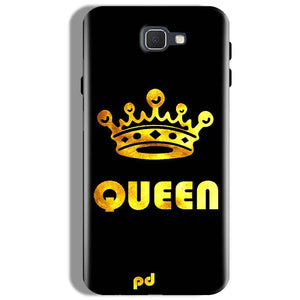Samsung Galaxy J7 Prime Mobile Covers Cases Queen With Crown in gold - Lowest Price - Paybydaddy.com