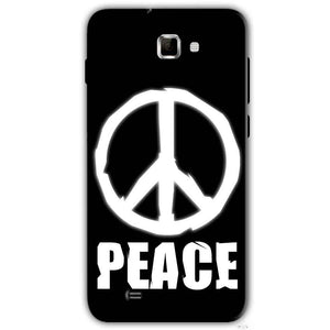 Samsung Galaxy Note 2 N7000 Mobile Covers Cases Peace Sign In White - Lowest Price - Paybydaddy.com