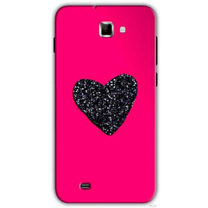 Samsung Galaxy Note 2 N7000 Mobile Covers Cases Pink Glitter Heart - Lowest Price - Paybydaddy.com