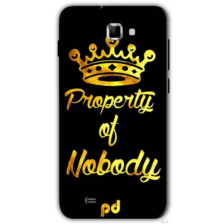Samsung Galaxy Note 2 N7000 Mobile Covers Cases Property of nobody with Crown - Lowest Price - Paybydaddy.com