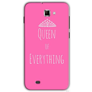 Samsung Galaxy Note 2 N7000 Mobile Covers Cases Queen Of Everything Pink White - Lowest Price - Paybydaddy.com