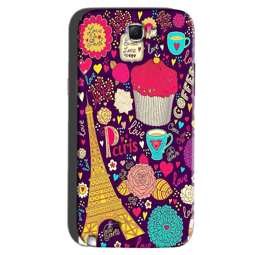 Samsung Galaxy Note 2 Mobile Covers Cases Paris Sweet love - Lowest Price - Paybydaddy.com