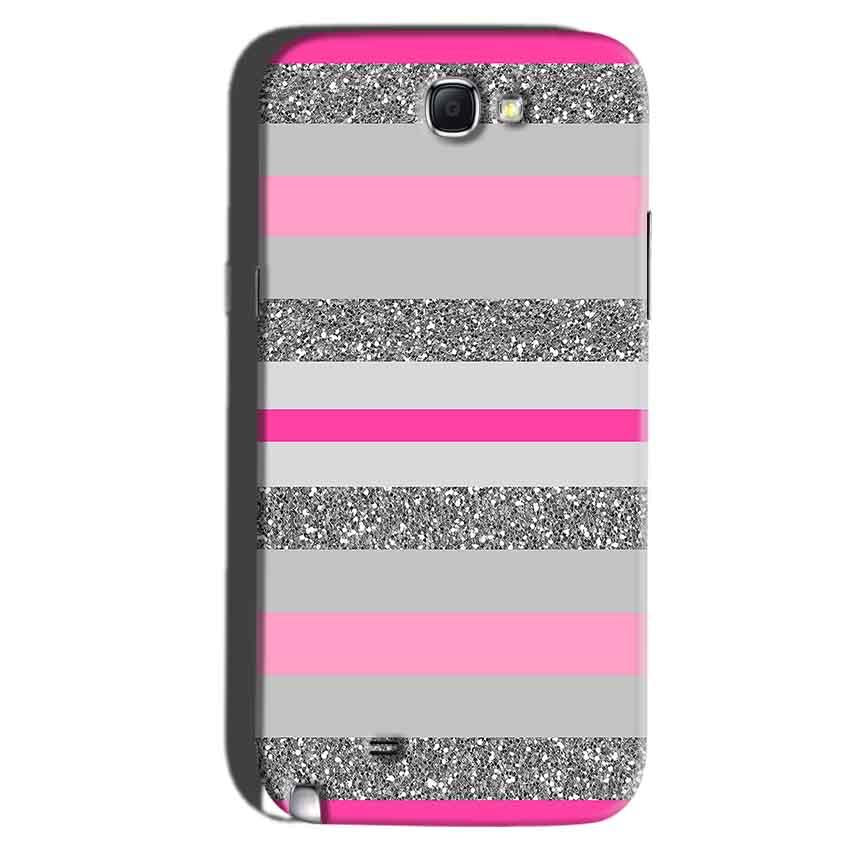 Samsung Galaxy Note 2 Mobile Covers Cases Pink colour pattern - Lowest Price - Paybydaddy.com