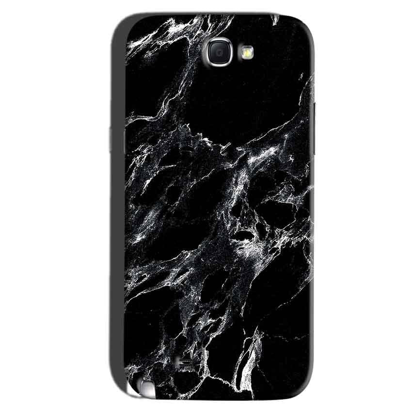 Samsung Galaxy Note 2 Mobile Covers Cases Pure Black Marble Texture - Lowest Price - Paybydaddy.com