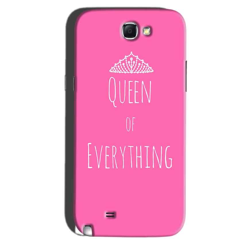 Samsung Galaxy Note 2 Mobile Covers Cases Queen Of Everything Pink White - Lowest Price - Paybydaddy.com