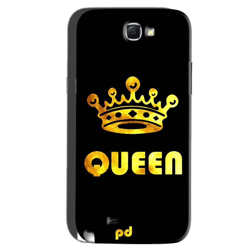 Samsung Galaxy Note 2 Mobile Covers Cases Queen With Crown in gold - Lowest Price - Paybydaddy.com