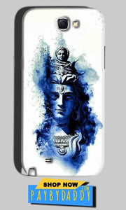 Samsung Galaxy Note 2 Mobile Covers Cases Shiva Blue White - Lowest Price - Paybydaddy.com