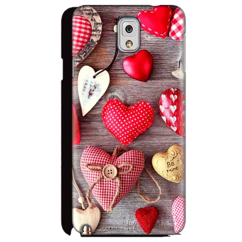 Samsung Galaxy Note 3 Mobile Covers Cases Hearts- Lowest Price - Paybydaddy.com