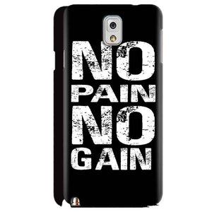 Samsung Galaxy Note 3 Mobile Covers Cases No Pain No Gain Black And White - Lowest Price - Paybydaddy.com