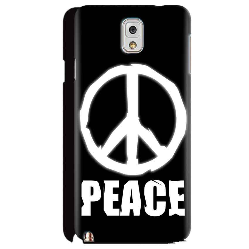 Samsung Galaxy Note 3 Mobile Covers Cases Peace Sign In White - Lowest Price - Paybydaddy.com