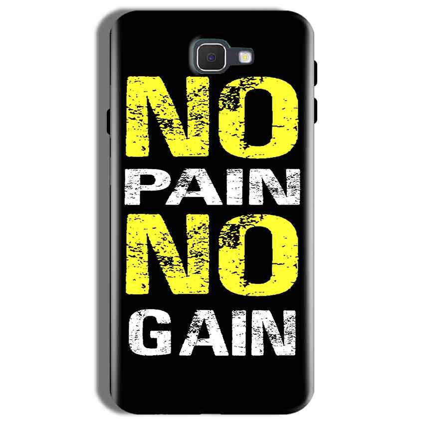 Samsung Galaxy On Nxt Mobile Covers Cases No Pain No Gain Yellow Black - Lowest Price - Paybydaddy.com