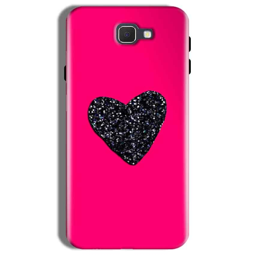 Samsung Galaxy On Nxt Mobile Covers Cases Pink Glitter Heart - Lowest Price - Paybydaddy.com