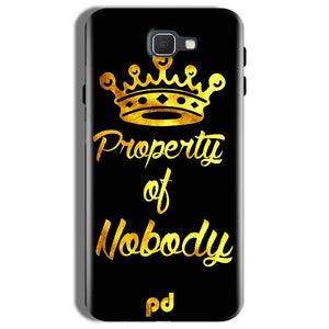 Samsung Galaxy On Nxt Mobile Covers Cases Property of nobody with Crown - Lowest Price - Paybydaddy.com