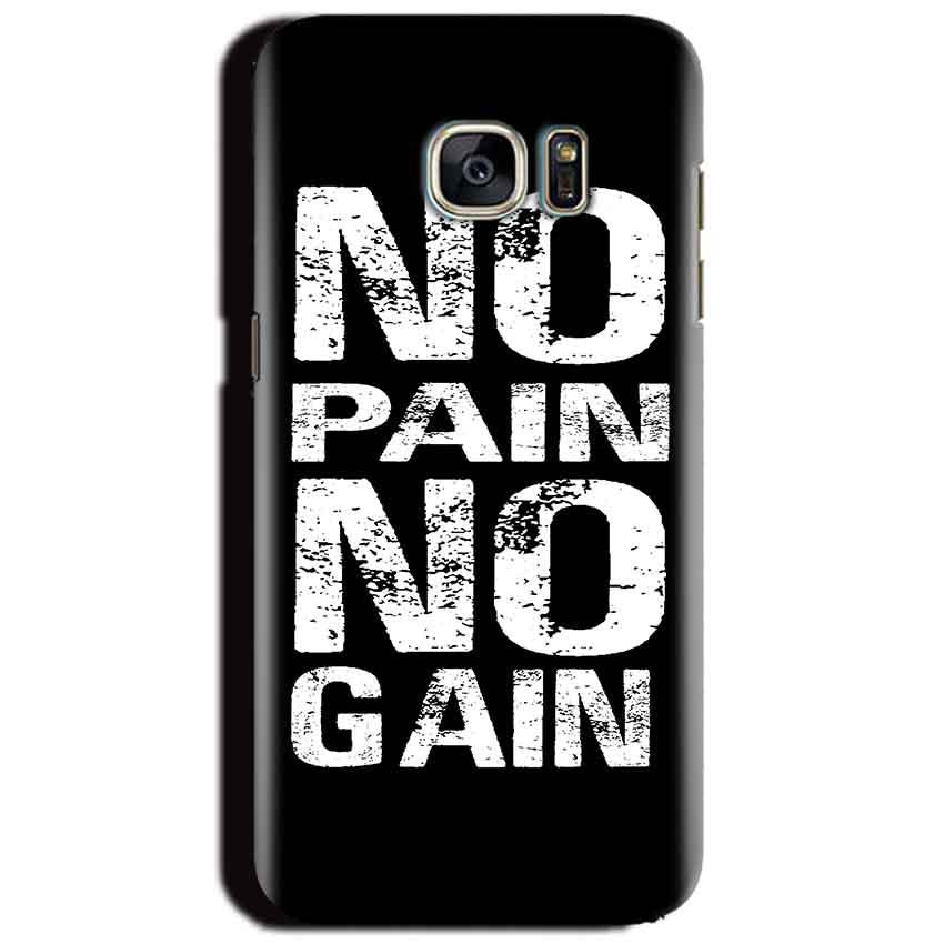 Samsung Galaxy S6 Mobile Covers Cases No Pain No Gain Black And White - Lowest Price - Paybydaddy.com
